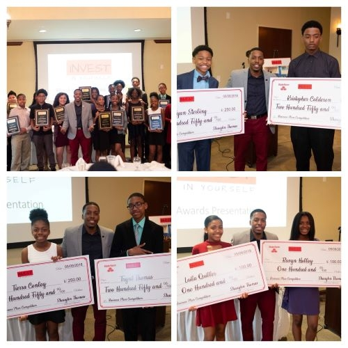 TOY Shaughn Thomas Holds Student Business Plan Comp. Awarding $2000