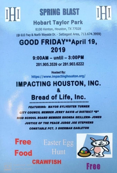 Annual Spring Blast with Impacting Houston on Good Friday