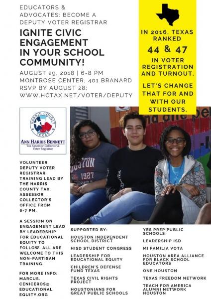 Educators & Advocates: Become a Deputy Voter Registrar!