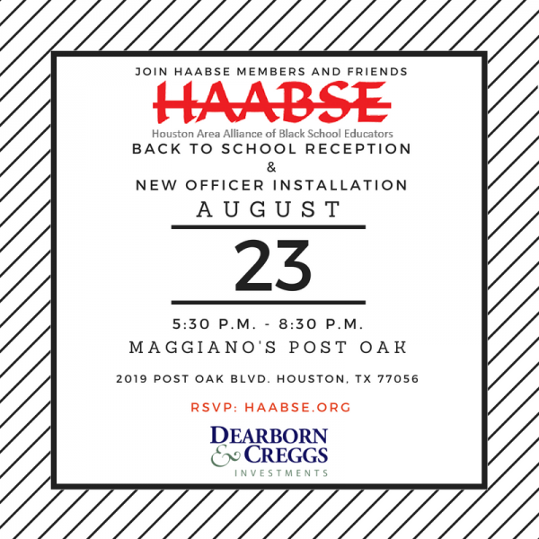 HAABSE 2018-19 Back to School Reception & New Officer Installation