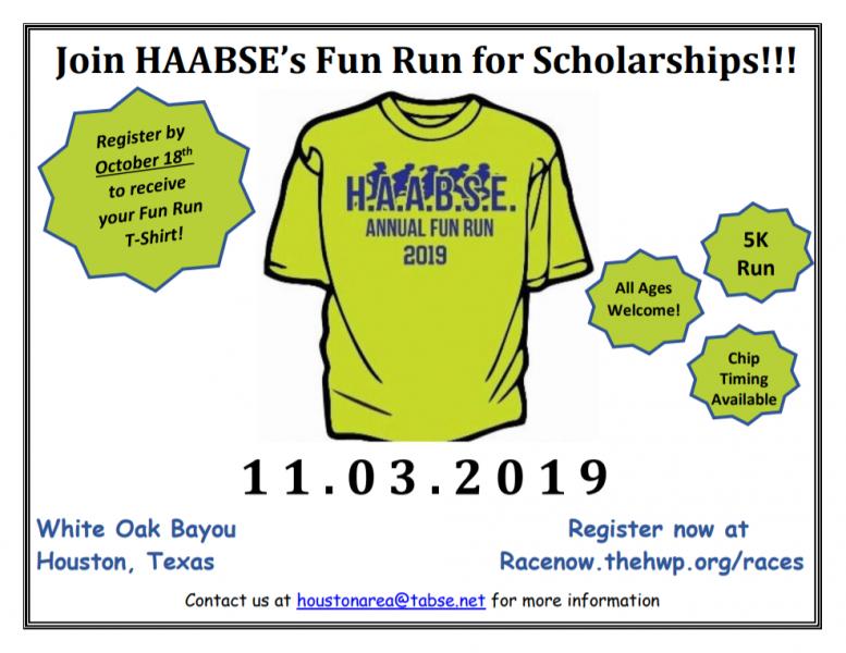 HAABSE Fun Run for Scholarships