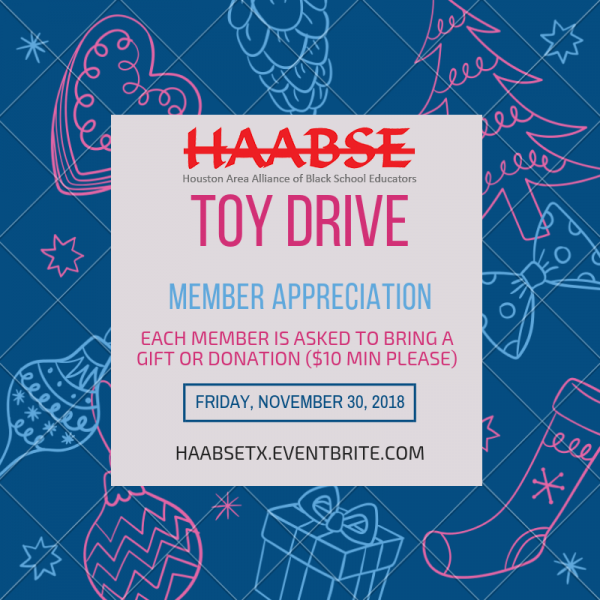 HAABSE Member Appreciation Social and Toy Drive