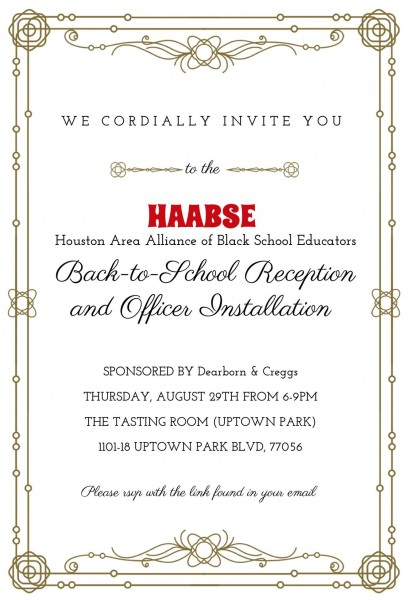 HAABSE Back-to-School Reception and Officer Installation